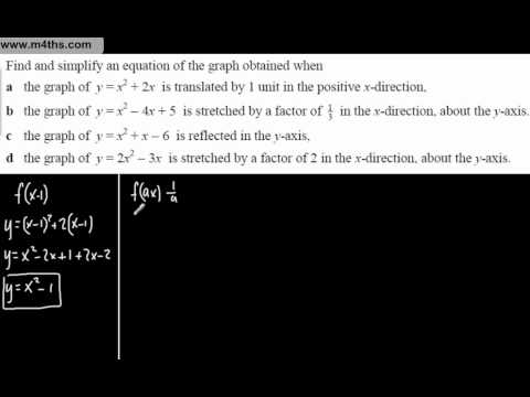 (4) Core 1 Graph Transformations (Simplifying graphs given a transformation)