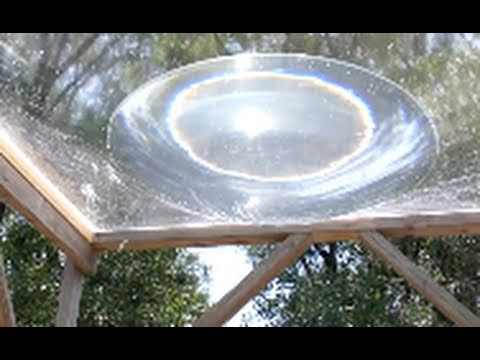 SOLAR DEATH RAY  WATER  aqua lens with 1/3 Kilowatt Heat Energy