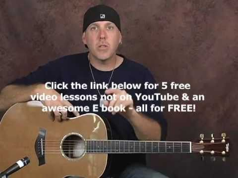 EASY ways to get different sounds beginner guitar video lesson on Taylor acoustic