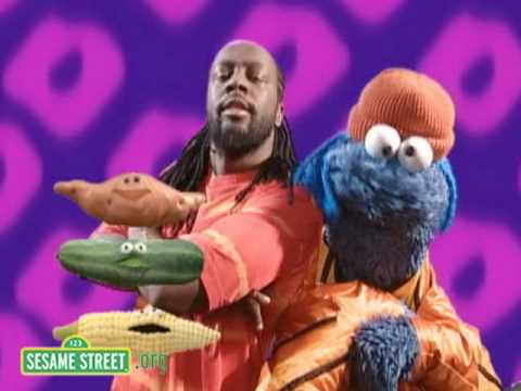Sesame Street: Wyclef Jean And Cookie Monster Sing About Hea