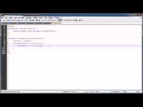 PHP Tutorials: Register & Login (Part 6): Error Handling