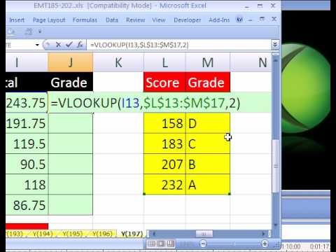 Excel Magic Trick #197: Grade Book with Weights