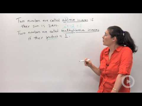 Additive and Multiplicative Inverses