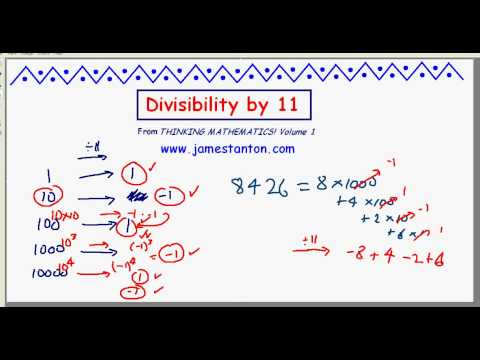 Divisibility by 11 (TANTON Mathematics)