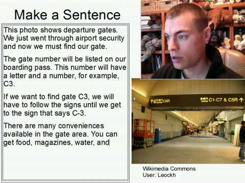 Learn English Make a Sentence and Pronunciation Lesson 124: Departure Gates