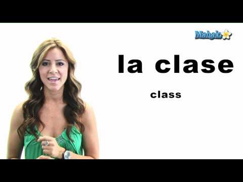 "How to Say ""Class"" in Spanish"