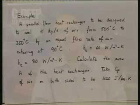 Lecture - 27 Heat Exchangers - 3