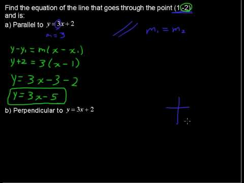 How to Calculate Parallel and Perpendicular Lines - Precalculus Tips