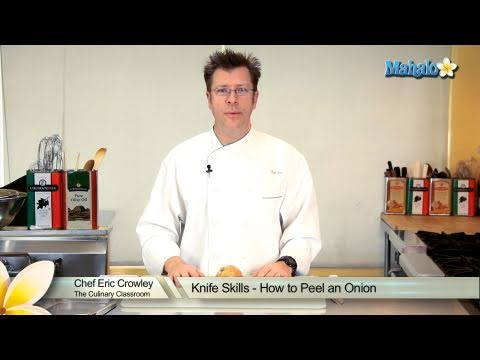 Knife Skills - How to Peel an Onion