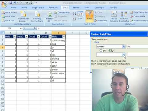 Mr Excel & excelisfun Trick 25: Extract Records NOT Swim or Ski (Filter or Formula?)