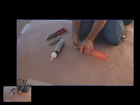 Tips on using a painter's caulk gun