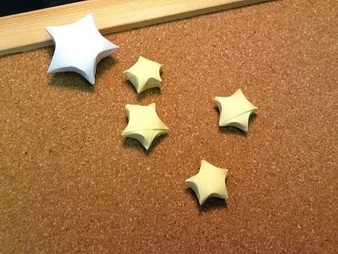 Daily Origami: 394 - Lucky Stars (Tanabata)
