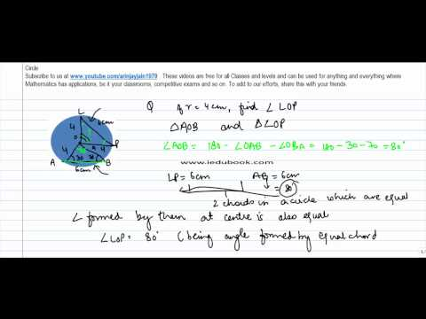 333.Maths Class IX - Concept of Angle subtended by Chord at centre - Problem 1