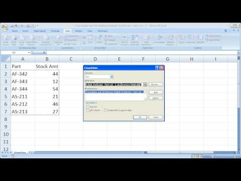 Consolidate and Combine Data in Excel Between Multiple Workbooks
