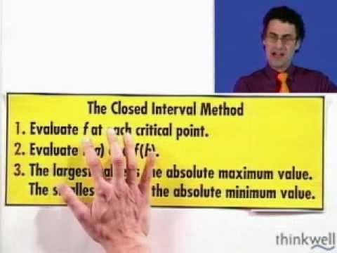 Maximum and Minimum, Part 3 of 3, from Thinkwell's Video Calculus Course