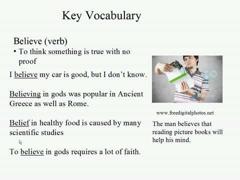 Live Intermediate English Lesson 3: Myths and Legends: Believe (verb)
