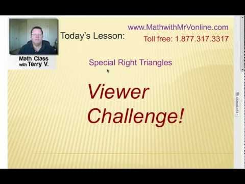 Viewer Challenge: Special Right Triangles #2