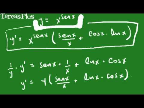 derivada de x a la seno de x