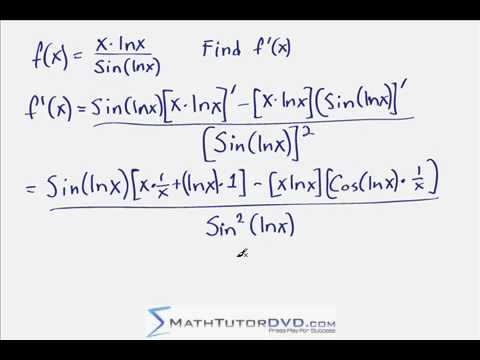 Calculus 1 - Taking Derivatives With The Chain Rule (MathTutorDVD.com)