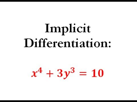 Derivatives - Implicit Differentiation Question #1