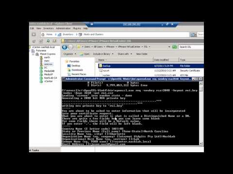 Using the command prompt to create a new certificate in vSphere