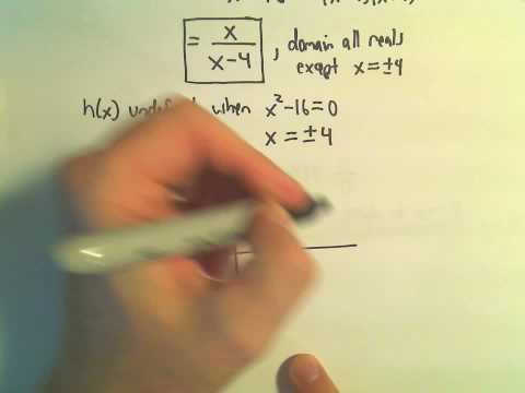 Graphing a Rational Function - Example 4