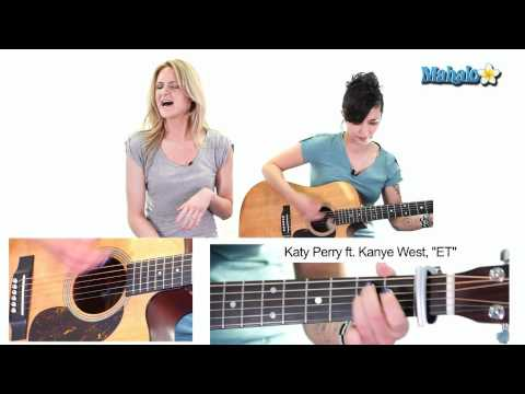 "How to Play ""ET"" by Katy Perry ft. Kanye West on Guitar (Practice Video)"