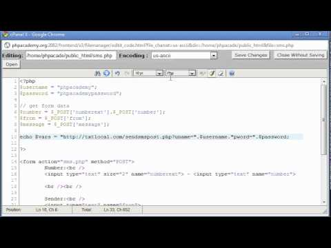 PHP Tutorials: Sending a SMS message using PHP (Part 3)