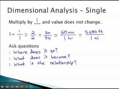 Dimensional Analysis - Single Unit - YouTube.mp4