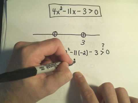 Solving Quadratic Inequalities, More Examples - Example 4