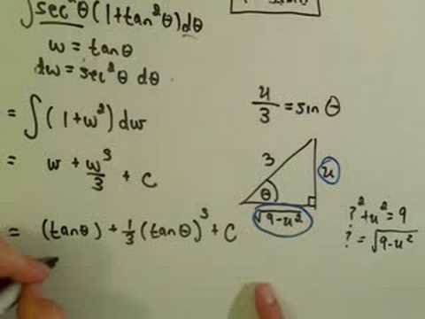 Trigonometric Substitution - Example 3 / Part 2