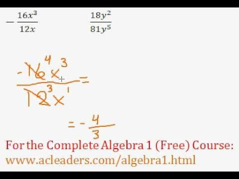 Rational Expressions - Simplifying Question #1