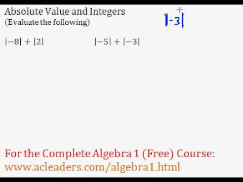 Absolute Values - Introduction & Worked Examples (Algebra Review)