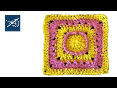 Crochet Geek - Hazy Day Crochet Square Left Hand Version