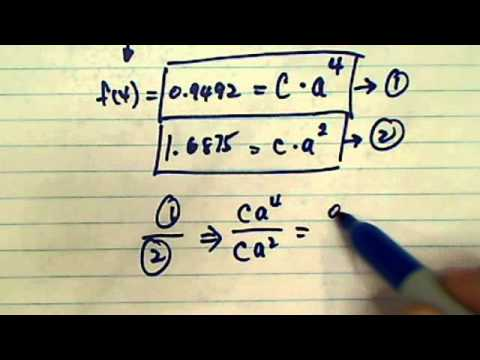 *Find Exponential Equation: Find f(x)=Ca^x given 2 points