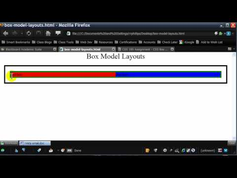 Box Model Web Page Layouts with CSS