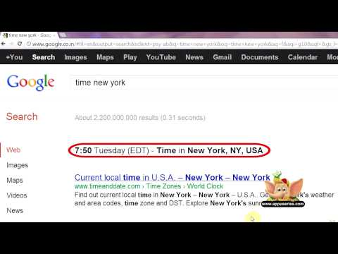 Google Search Tip 21 - Identify Local Time for Any City in the World