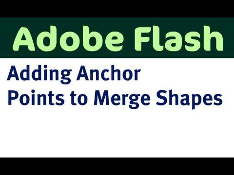 Adding Anchor Points to Merge Shapes