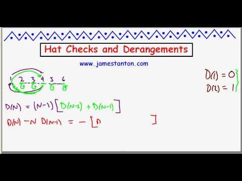 Derangements and Hats (TANTON Mathematics)