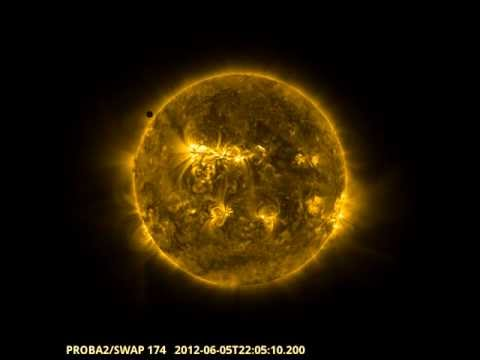 Venus solar transit 2012 - Proba-2's journey across the Sun
