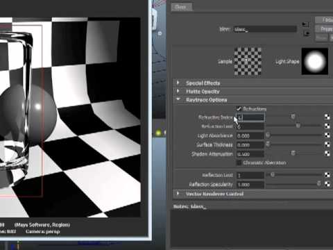 Maya 2012 Tutorial - Transparency and Refractions