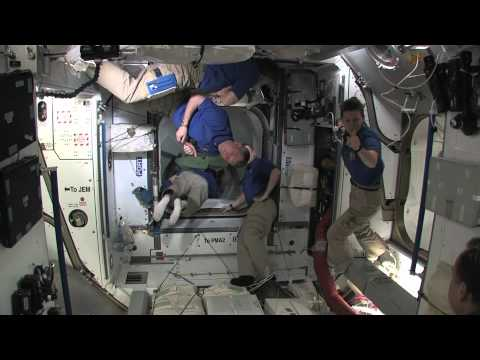 STS-134 Hatch Opening & Welcome Aboard ISS