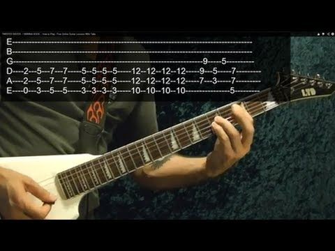 THE TROOPER ( Guitar Lesson ) by IRON MAIDEN, With Tabs