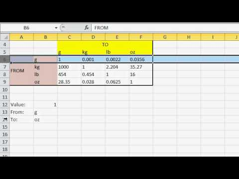 Excel Matrix Lookup (2D Lookup, Multi Value VLOOKUP) with MATCH and INDEX