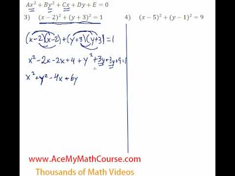 Conics - Standard to General #3-4