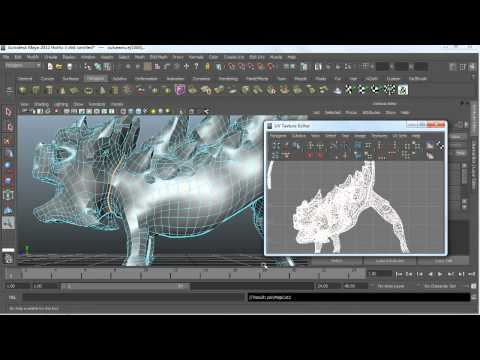 How to create UV seams in Maya | lynda.com tutorial
