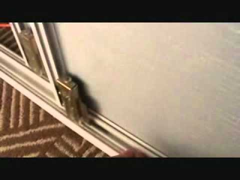 How to adjust a sliding glass closet door