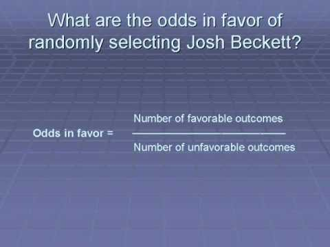 Boston Red Sox Summer Math Program  Odds and Probability
