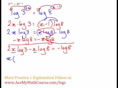 Exponential Equation - Solving with Logs Example #4