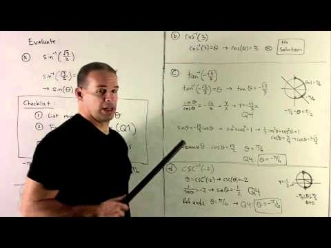 Evaluating Inverse Trig Functions 1